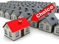 Choice house Royalty Free Stock Image