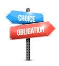 Choice and obligation illustration design over a white background Stock Photography