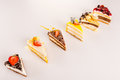 Choice of petite cakes delicious dessert selection Stock Image