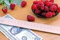 Choice profiled raspberry Royalty Free Stock Photo