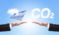 Choice solar panel or co2 Stock Image