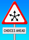 Choices ahead Royalty Free Stock Photo