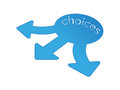 Choices vector based arrows going multiple ways Royalty Free Stock Photography
