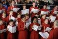 Choir Perform Christmas Carols Royalty Free Stock Photo