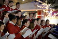 Choir perform christmas carols bristol cathedral in cabot circus shopping mall on november in bristol uk the performed traditional Royalty Free Stock Images