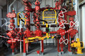 Choke Manifold and Rig Tong on Drilling Rig Royalty Free Stock Photo