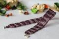 Choker necklace wattled from beads of two colors Stock Photos