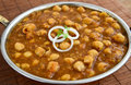 Chole or channa or chickpeas indian meal consisting of Royalty Free Stock Images