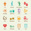 Cholesterol elements vector infographic icons Stock Photo