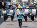 Chonburi thailand april chonburi songkran festival the parade annual on in Stock Photography