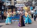 Chonburi thailand april chonburi songkran festival the parade annual on in Stock Images