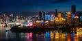 Chongqing City Night Light Royalty Free Stock Photo