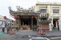 Choo chay keong temple george town penang may dusk view of the adjoined to yap kongsi clan house armenian street george town Stock Photo