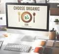 Choose Organic Healthy Eating Food Lifestyles Concept Royalty Free Stock Photo