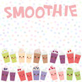 Choose your smoothies. card design Takeout blueberry raspberry strawberry kiwi apple cherry grapes smoothie transparent plastic cu