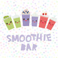 Choose your smoothies. card design Takeout kiwi strawberry raspberry blueberry smoothie transparent plastic cup with straw and whi