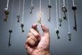 Choosing the key to success Royalty Free Stock Photo