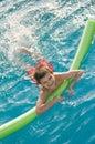 Chłopiec cieszy się basenu Obrazy Royalty Free