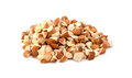 Chopped almonds isolated on a white background Royalty Free Stock Photography