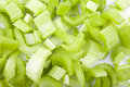 Chopped Celery Stock Photo