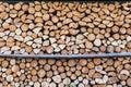 Chopped firewood logs Royalty Free Stock Photo