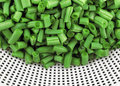 Chopped green beans Stock Photos