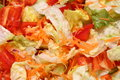 Chopped Lettuce and Red Pepper Salad Royalty Free Stock Photo