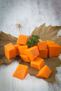 Chopped pumpkin Stock Photography