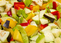 Chopped raw vegetables Royalty Free Stock Photo