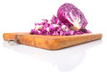 Chopped Red Cabbage III Royalty Free Stock Photo