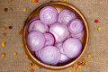 Chopped red onions Royalty Free Stock Photo