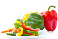 Chopped salad with sweet peppers Stock Photography