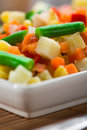 Ð¡hopped vegetables mixture Royalty Free Stock Photos