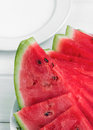 Chopped watermelon on a plate Royalty Free Stock Photo