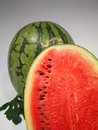 Chopped Watermelon Showing Seeds Royalty Free Stock Photo