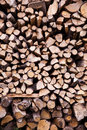 Chopped wood image showing a pile of Royalty Free Stock Image