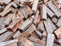 Chopped wood pile of chooped for fire as background Royalty Free Stock Photography