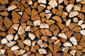 Chopped wood stack of ready for fire Royalty Free Stock Images