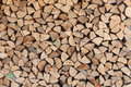 Chopped wood wall of straight from forest Royalty Free Stock Image