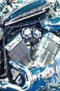 Chopper motorcycle engine Royalty Free Stock Photo