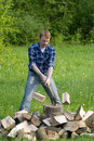 Chopping wood Royalty Free Stock Photography