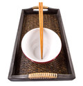 Chopstick and Bowl VI Royalty Free Stock Photography