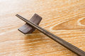 Chopstick on table japanese wooden Royalty Free Stock Images