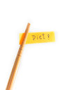 Chopsticks diet messages concept and idea and Royalty Free Stock Image