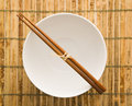 Chopsticks on an Empty Bowl Stock Photos