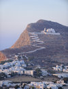 Chora village the on folegandros island on the cyclades island group greece Royalty Free Stock Photography
