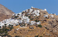 Chora village serifos island cyclades greece view of Royalty Free Stock Image