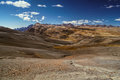 Choro trek arid landscape high in the andes mountains in bolivia Royalty Free Stock Photos
