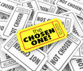 The Chosen One Golden Ticket Lucky Winner Selected Game Competit Royalty Free Stock Photo
