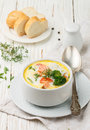 Chowder with salmon Royalty Free Stock Photo